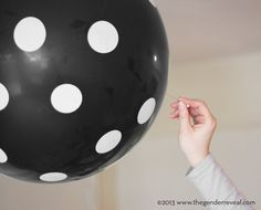 Confetti Balloon Revealer for Gender Reveal Parties - Black Dot