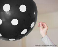 Confetti Balloon Revealer for Gender Reveal Parties - Black Dot