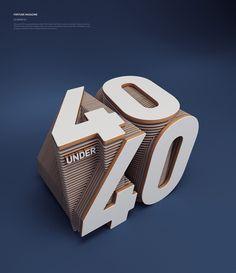 Fortune Magazine. Editorial 40 under 40. By Rizon parein