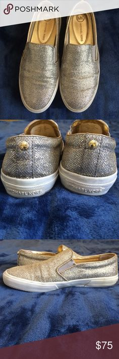 Michael Kors Glitter Shoes Glittery Michael Kors shoes. Worn a couple of times. Very cute and very stylish. 🚫No trades🚫 Michael Kors Shoes