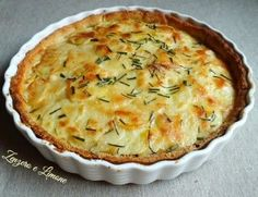 CROSTATA DI PATATE Quiches, I Love Food, Good Food, Yummy Food, Vegetarian Recipes, Cooking Recipes, Savory Tart, No Salt Recipes, Salty Cake