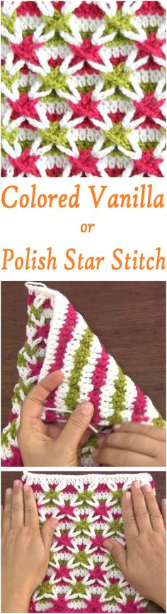 Crochet Polish star or Vanilla Star