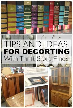 Update and decorate your home with these thrift store essentials. - Littlehouseoffour.com