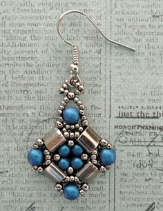 Linda's Crafty Inspirations: Playing with my beads...Layered Tila Earrings in silver