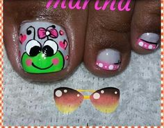 Pretty Toe Nails, Cute Toe Nails, Cute Toes, Pretty Toes, Toe Nail Art, Fun Nails, Toe Nail Designs, Christmas Nail Art, Manicure And Pedicure