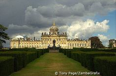 Castle Howard, Yorkshire, England, built by Sir John Vanbrugh, was used as the location for the television version of Evelyn Waugh's Brideshead Revisited.