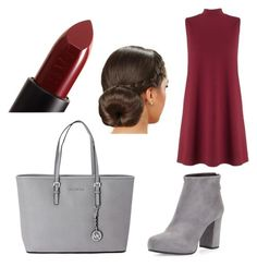 """Maroon and grey outfit"" by kitkat308 on Polyvore featuring Lipsy, Prada, Michael Kors and NARS Cosmetics"