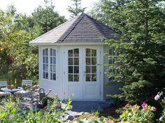 Log Cabin Corner Garden House Veronica 2 x - Cabins & Studios Apex Roof, Cabins For Sale, Garden Gazebo, Garden Sheds, Corner Garden, She Sheds, Deck With Pergola, Garden Buildings, Interior Garden