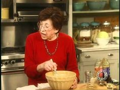 "Martha Stewart and her mother, Mrs. Kostyra ""Big Martha,"" create the perfect pecan pie.  Recipe follows:    Makes one 9 inch pie    All-purpose flour, for dusting  1/2 recipe Pate Brisee (Pie Dough), or frozen store-bought pastry shell  2 1/2 cups pecan halves  4 large eggs  1/2 cup sugar  1 cup dark corn syrup  1/2 cup light corn syrup  1 teaspoon pure va..."