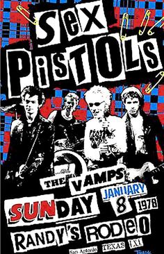 Sex Pistols poster by Jamie Reid, punk rock style graphic design Wes Wilson, Punk Poster, Gig Poster, Arte Punk, Punk Rock Fashion, Lolita Fashion, Fashion Boots, Rock Band Posters, Graphic Design Posters