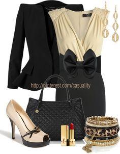 """Paris Sequin Dress & Alexander McQueen Peplum Blazer"" by casuality on Polyvore"