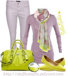 """Lemon & Lavender"" by steffiestaffie on Polyvore"
