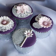 mauve cupcakes - Google Search