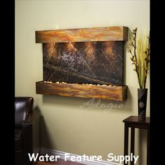 #Wall Mounted Water Features  I tell all my friends to check out their huge inventory of indoor and outdoor water walls. I have no choice but to highly recommend this professional firm.