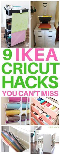 Ikea Hacks, Diy Hacks, Diy Storage Hacks, Storage Solutions, Vinyle Cricut, Cricut Vinyl, Craft Room Storage, Craft Organization, Ikea Vinyl Storage