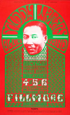 Muddy Waters Blues Band/Quicksilver Messenger Service/Andrew Staples  November 4-6, 1966 , Fillmore Auditorium - San Francisco