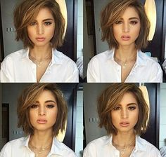 Cute Short Bob Haircuts and Hairstyles for Women in 2018 Bob haircut looks good in all types of hair. However, it's a perfect haircut for less volume hair. Thin and fine hair, when cut with a short bob haircut looks thick and stylish. Stacked bob h… Bob Haircuts For Women, Cute Haircuts, Haircuts For Fine Hair, Short Bob Haircuts, Haircut Short, 2018 Haircuts, Short Hairstyles For Round Faces, Bobs For Fine Hair, Bobbed Haircuts