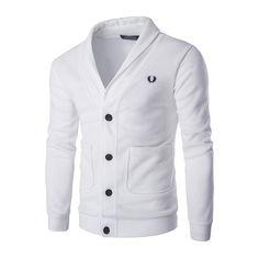 Venta Caliente Con Estilo del Mens Sweatercoats Abrigo Chaqueta de Punto de Impresión Slim Fit Suéter Que Hace Punto 490
