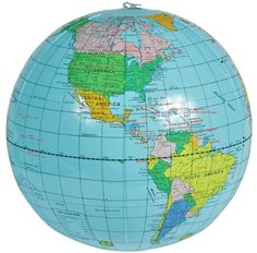 Vector world map in orthographic projection as globe centered on inflatable globe on amazon gumiabroncs Image collections