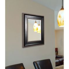 Rayne Black With Silver Caged Trim Wall Mirror, Multicolor