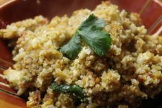 "blog with recipes for paleo ""rice"" and other grain-free dishes. looks amazing!"