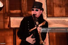 King Diamond performs without makeup during Rockstar Mayhem Festival 2015 at First Midwest Bank Amphitheatre on July 12, 2015 in Tinley Park, United States.