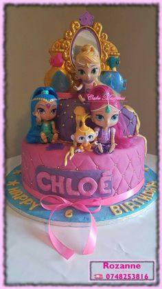 Shimmer and Shine Cake Shimmer And Shine Cake, Aladdin, Cake Pops, Madness, Birthday Cake, Cupcakes, Desserts, Food, Tailgate Desserts