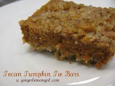 Ginger Lemon Girl: Pecan Pumpkin Pie Bars (Gluten Free)
