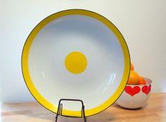 Mid Century Cathrineholm Platter / Grete Prytz Kittelsen / Band Dot Pattern / Rare