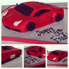 Car cake lambourghini cake sports car cake