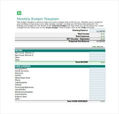 Family Budget Template Excel  Simple Personal Budget Template