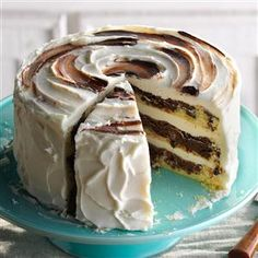 Marvelous Marble Cake Recipe -Pound cake and chocolate make the best marble cake. — Ellen Riley, Birmingham, Alabama