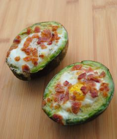 Bacon and Egg Avocado - Exactly what it sounds like, assemble and bake at 425 for 15 minutes :)