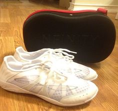 Getting these soon😍 Nfinity Cheer Shoes. Absolutely in love with design, support, and weight. Only 3 oz! Nfinity Cheer Shoes, All Star Cheer, Sneakers Nike, Design, Nike Tennis