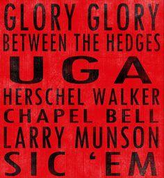 University of Georgia Bulldogs art board