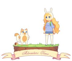 Pixel Fionna and Cake by DAV-19