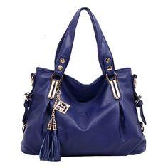 Vincico Womens Designer Tassels PU Leather Handbags Shoulder Bags