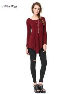 2016 New Casual O-Neck Full Sleeve Loose T-Shirt For Women Girls Alisa Pan AP01006BD Women Tee Tops Fashion T Shirt Tee Tops