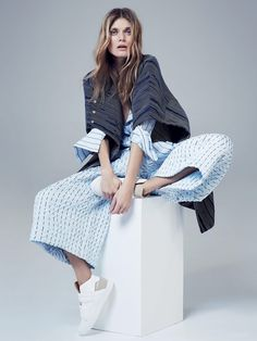 visual optimism; fashion editorials, shows, campaigns & more!: cut louche: malgosia bela by nicole bentley for vogue australia april 2015