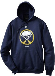 NHL Buffalo Sabres Primary Logo Hoodie, Large, Navy by Reebok. $27.59. Stay primed to support your team as the weather turns cool in this warm Buffalo Sabres Primary Logo Hooded Sweatshirt from Reebok. Features screen printed primary team logo on chest.