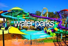 Waterparks. Makes me think of Noah's Ark in the Dells. Ahh, #Summer.