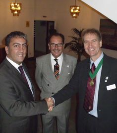 Our Gibraltar Associate Branch is among those IOSH networks to honour Workers' Memorial Day (April 28) each year. Pictured (l-r) is Paul Balban, Minister for Traffic, Heath and Safety and Technical Services, associate branch chair Richard Labrador and Past President Steve Granger.