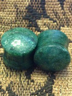 Green quartz stone plugs. $34.00, via Etsy.