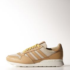Part of a design collaboration between adidas Originals and Tokyo streetwear designer Nigo, these men's shoes put the beloved ZX 500 in a luxurious new look, with a herringbone-pattern upper and premium undyed leather overlays. Featuring the authentic ZX heel stabiliser and lightweight EVA midsole.