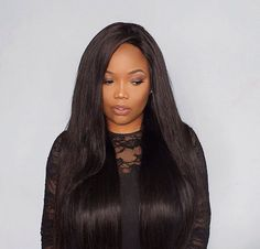UNice Hair Icenu Series Peruvian Straight Virgin Hair With Closure 4 Thick Bundles Unice Hair, Natural Hair Styles, Long Hair Styles, Lace Closure, Virgin Hair, Straight Hairstyles, Black Hair, Black Women, Hair Black Hair