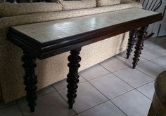 french script sofa table extra long by liveabundantly on Etsy