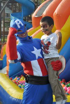 Fiesta Capitan America y Hombre Araña 12 de Mayo de 2012