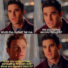 "#Glee 6x01 ""Loser Like Me"" - Blaine and Kurt"