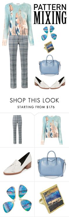 """""""Pattern Mixing"""" by karen-galves on Polyvore featuring Off-White, Alberta Ferretti, Rebecca Minkoff, Givenchy and Oreste Dalben"""