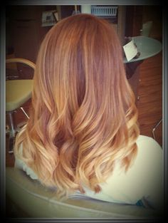 Summer ombre, red ombre